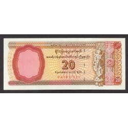 Myanmar-(Burma) 20 Dolar. 1997. SC. PIK. FX.4