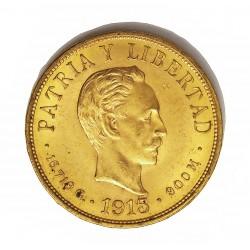 Cuba 10 Pesos. 1915. SC-/SC. (J.Marti). AU. 16,719gr. Ø27mm. KM. 20