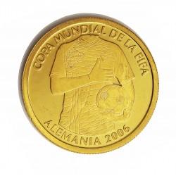 Ecuador 1 Sucre. 2006. PRF. (Mundial Futbol Alemania 2006). AU. 6,72gr. Ø23mm. KM. No Cita.