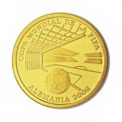 Paraguay 1500 Guaranis. 2004. PRF. (Mundial Futbol 2006-Alemania). AU. 6,7gr. Ø23mm. KM. 203