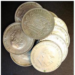 España 5 Ptas. 1949. *19*50. MBC-. CUNI. 150gr. (LOTE: 10 Monedas de 5 Ptas.). Ø32mm. HG. 304 - CT. 48
