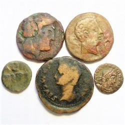 ZZ-LOTE/S Varios IBERICAS/ROMANAS. RC+/BC-. AE. 31gr. (varios valores). (5 Monedas-3 Modulo Mediano.2 Pqño.)