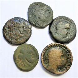 ZZ-LOTE/S Varios IBERICAS/ROMANAS. RC+/BC-. AE. 50gr. (varios valores). (5 Monedas.Modulo Mediano)