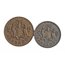 Barbados LOTE. 1973. (Estado soberano). SC. CU. 3,12gr. (Dos monedas de 1 y 5 Cent.)). KM. 10 y 11