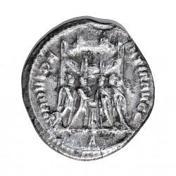 Roma Imperio CONSTANCIO I CLORO Argenteo. 250. 306. Cartago-( Oficina I). MBC+. Anv: Su busto laureado a dcha. CONSTANTIUS.CAES