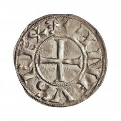 Castilla y Leon.-R.de 1 Dinero. 1065. 1109. Toledo. SC-/SC. Anv: +ANFUS REX Tres puntos como final de leyenda. Rev: +LEO CIVITA