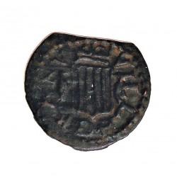 España 1 Dinero. 1598. 1621. Granollers. MBC. (Cospel algo faltado). Anv: Busto pequeño del monarca a dcha. ley.:(+P)HILI(PV)S
