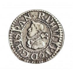 España ½ Croat. 1611. Barcelona. EBC. (½ Real). AG. 1,69gr. Ø18mm. CT. 425