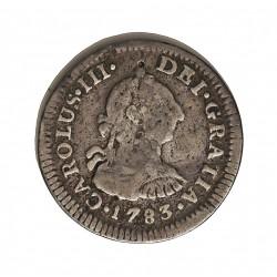 España ½ Reales. 1783. Mº-(Mejico). F.F. MBC-. AG. 1,7gr. Ø17mm. CT. 1608 - KM. 69.2