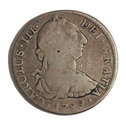 España 8 Reales. 1789. Mº-(Mejico). F.M. BC+/MBC-. MUY ESCASO/A. AG. 27,07gr. Ø38mm. CT. 856 - KM. 106.2a