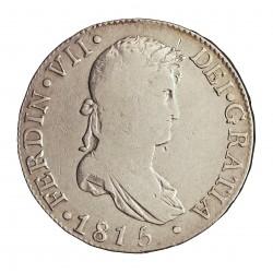 España 8 Reales. 1815. M-(Madrid). G.J. MBC-/MBC. MUY ESCASO/A. AG. 26,92gr. Ø38mm. CT. 353
