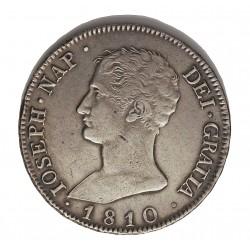 España 20 Reales. 1810. Madrid. A.I. MBC+/EBC-. (Insig.gpcto. a las 9h.).(Aguila grande). AG. 27,4gr. Ø39mm. CT. 25