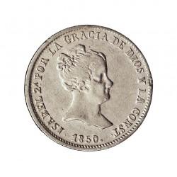 España 1 Reales. 1850. S-(Sevilla). RD. MBC+. (Lev.falta en listel). AG. 1,315gr. Ø15mm. CT. 420