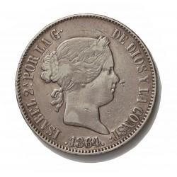 España 10 Reales. 1864. Madrid. MBC-/MBC. (Pqña.marquita anv.). AG. 12,75gr. Ø29mm. HG. 471 - CT. 239