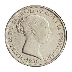 España 20 Reales. 1850. Madrid-(M). CL. MBC-/MBC+. AG. 26,2gr. Ø37mm. CT. 163 - HG. 500