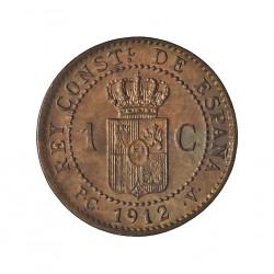 España 1 Cts. 1912. *2. Madrid. PCV. SC/UNC. (Parte de su tono). CU. 1gr. Ø15mm. CT. 77