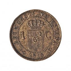 España 1 Cts. 1913. *3. Madrid. PCV. EBC+. CU. 1gr. Ø15mm. CT. 78 - HG. 7
