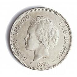 España 5 Ptas. 1892. *18*92. Madrid. PGM. MBC+. (Insig.gpcto.). (Tipo Bucles). AG. 25gr. Ø37mm. CT. 19 - HG. 147