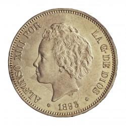 España 5 Ptas. 1893. *18*93. Madrid. PGL. EBC+/SC-. (Lev.marquitas.Su tono.Muy bonito). AG. 25gr. Ø37mm. CT. 22 - HG. 148