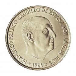 España 100 Ptas. 1966. *19*66. SC/SC-. (Tono original). AG. 19gr. Ø34mm. CT. 17