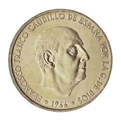 España 100 Ptas. 1966. *19*67. SC/SC-. (Tono original). AG. 19gr. Ø34mm. CT. 17