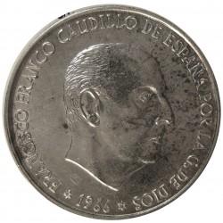 España 100 Ptas. 1966. *19*70. MBC/MBC+. AG. 19gr. Ø34mm. CT. 18 - HG. 356