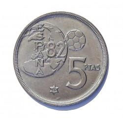 España 5 Ptas. 1975. *80. SC-. (Nueva con muy lev.marquitas). (ERROR Mundial). NI. 5,74gr. Ø23mm. HG. 388 a