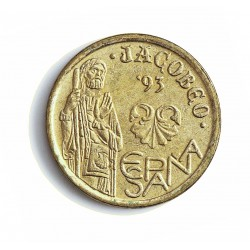 España 5 Ptas. 1993. SC. (Botafumeiro)-(Variante del 5 partido). AL+AE. 3gr. Ø17,5mm. HG. 442