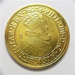 España Medalla. 1636. AG. 23,9gr. (Plata dorada). (Reproducción del Thaler-Paises Bajos). (Ø42mm). SC