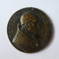 Vaticano Medalla. 1303. 1304. AE. 15gr. Anv: Su busto a dcha.Ley.: Benedicto XI.Pon.Max. (Medalla unifaz). (34mm). MBC+. (Aguje