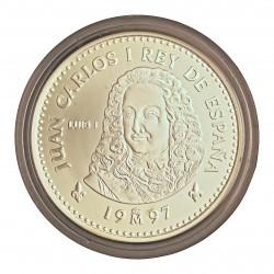 España 2000 Ptas. 1997. PRF. (Serie 1ª-Borbones-Luis I). AG. 27gr. Ø40mm