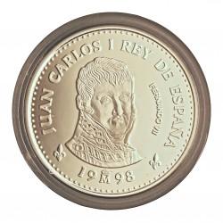 España 2000 Ptas. 1998. PRF. (Sin estuche.Con certif.). (Serie 2ª-Borbones-Fernando VII). AG. 27gr. Ø40mm