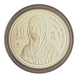 UE 10 €. 2004. PRF. (Isabel I de Castilla). AG. 27gr. Ø40mm