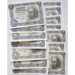 España Lote. 1951. SC. (14 Billetes de 1 Pts.:Series:A, B, C, D, E, G, H, I, K, L, M, N, P, Q, . PIK. 139a - EDF. D62a