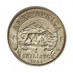 Africa del Este-(Britanica) 1 Schilling. 1941. AG. 7,6gr. Ley:0,250. (EAST AFRICA). Ø27mm. EBC+/SC-. KM. 28.1