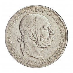 Austria-(y Estados) 5  Corona. 1907. AG. 24gr. Ley:0,900. Ø36mm. MBC-/MBC. KM. 2807