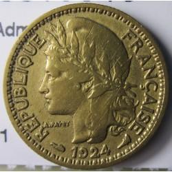 Camerun 50 Cts. 1924. (a)-Paris. AL+AE. 2,4gr. (Administración Francesa). Ø18mm. MBC. KM. 1