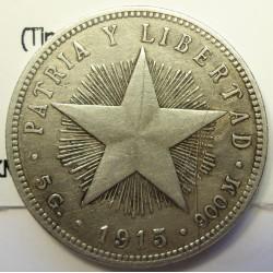 Cuba 20 Ctvo. 1916. AG. 5gr. Ley:0,900. (Tipo Estrella). Ø23mm. MBC-. KM. 13.2
