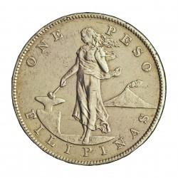 Filipinas 1 Pesos. 1905. ( El 1 recto). S-(St.Francisco). AG. 26,96gr. Ley:0,900. Ø37mm. EBC/EBC+. (Insig.marquitas y pqño.gpci