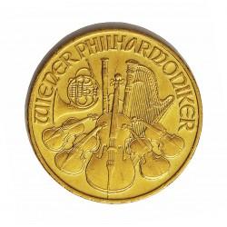 Austria-(y Estados) 500 Schilling. 1989. ( 1/4 Onza). EBC+. (Marquitas). (Filarmonica de Viena). 7,776gr. AU. Ley:1,000. Ø37mm.