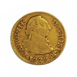 España ½ Escudos. 1779. M-(Madrid). PJ. MBC-. 1,69gr. AU. Ley:0,900. Ø15mm. CT. 699