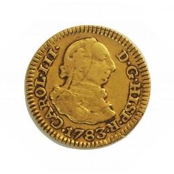 España ½ Escudos. 1783. M-(Madrid). JD. MBC-. 1,69gr. AU. Ley:0,900. Ø15mm. CT. 700