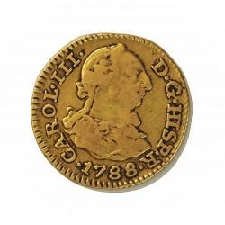 España ½ Escudos. 1788. M-(Madrid). M. MBC-. 1,69gr. AU. Ley:0,901. Ø14mm. CT. 706