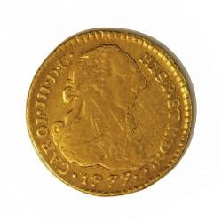 España 1 Escudos. 1777. Popayan-(Colombia). SF. MBC-/MBC. 3,38gr. AU. Ley:0,900. Ø18mm. CT. 609 - KM. 48.2