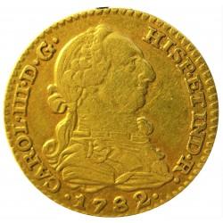 España 1 Escudos. 1782. M-(Madrid). JD. BC+/MBC-. 3,38gr. AU. Ley:0,900. Ø18mm. CT. 515 - KM. 416.1