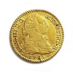 España 1 Escudos. 1785. (V Sobre D). M-(Madrid). D.V. MBC-/MBC. 3,38gr. AU. Ley:0,900. Ø18mm. CT. 517