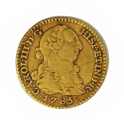 España 1 Escudos. 1785. M-(Madrid). D.V. MBC-/MBC. 3,38gr. AU. Ley:0,900. Ø18mm. CT. 517 - KM. 416.1