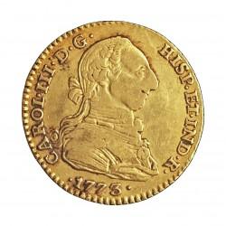 España 2 Escudos. 1773. S-(Sevilla). C.F. MBC-/MBC. 6,77gr. AU. Ley:0,901. (22mm). KM. 417.2 - AUC. 1726