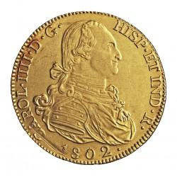 España 8 Escudos. 1802. M-(Madrid). FA. EBC+/SC-. (Lev.marquitas de afinaje anv. y rev..Gran parte de su tono original. Muy Bon