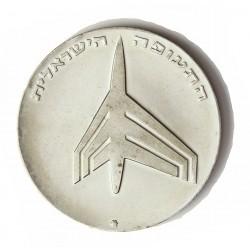 Israel 10 Lirot. 1972. AG. 26gr. Ley:0,900. (Aviación). Ø38mm. PRF. KM. 62